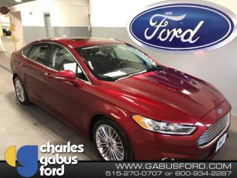 2016 Ford Fusion SE for sale at CHARLES GABUS FORD in Des Moines IA