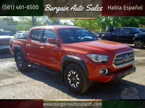 2018 Toyota Tacoma for sale at Bargain Auto Sales in West Palm Beach FL
