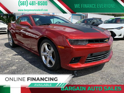 2014 Chevrolet Camaro for sale at Bargain Auto Sales in West Palm Beach FL