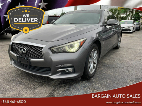 2014 Infiniti Q50 for sale at Bargain Auto Sales in West Palm Beach FL