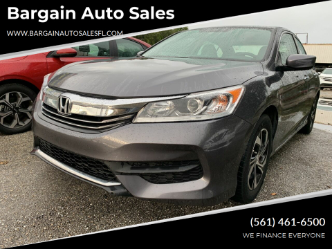 2017 Honda Accord for sale at Bargain Auto Sales in West Palm Beach FL