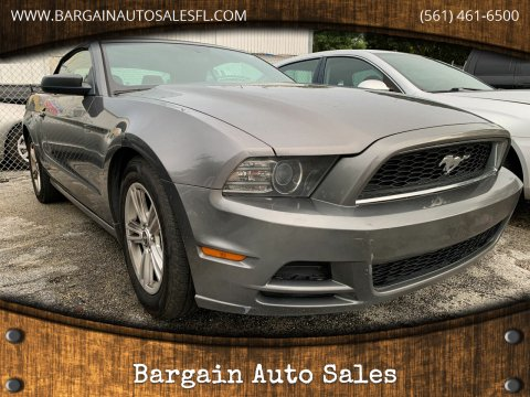 2014 Ford Mustang for sale at Bargain Auto Sales in West Palm Beach FL