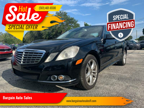 2011 Mercedes-Benz E-Class for sale at Bargain Auto Sales in West Palm Beach FL