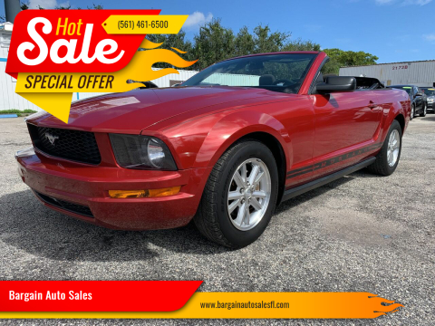 2008 Ford Mustang for sale at Bargain Auto Sales in West Palm Beach FL