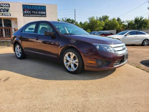 2012 Ford Fusion for sale at Zora Motors in Houston TX