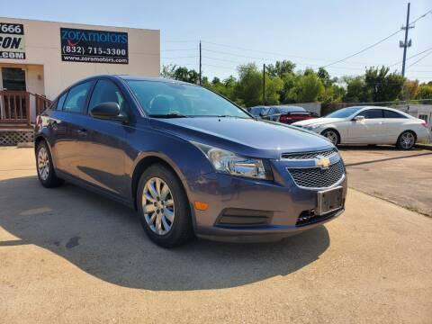 2013 Chevrolet Cruze for sale at Zora Motors in Houston TX