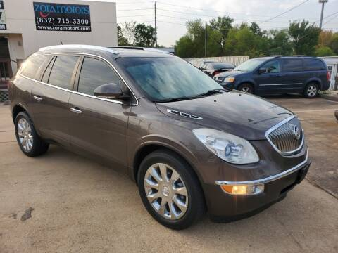 2012 Buick Enclave for sale at Zora Motors in Houston TX