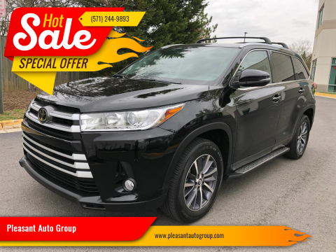 2019 Toyota Highlander XLE for sale at Pleasant Auto Group in Chantilly VA