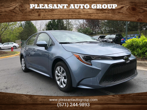 2020 Toyota Corolla LE for sale at Pleasant Auto Group in Chantilly VA