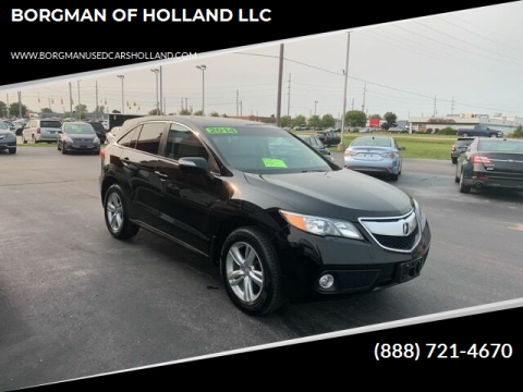 2014 Acura RDX for sale at BORGMAN OF HOLLAND LLC in Holland MI