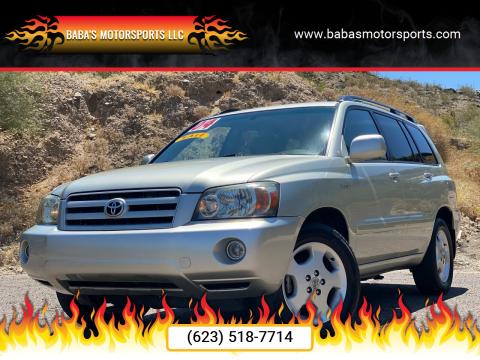 2004 Toyota Highlander for sale at Baba's Motorsports, LLC in Phoenix AZ