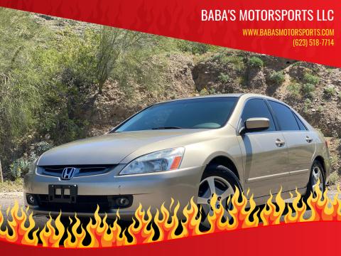 2005 Honda Accord for sale at Baba's Motorsports, LLC in Phoenix AZ