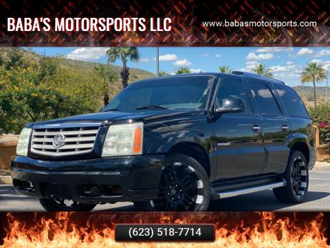 2002 Cadillac Escalade for sale at Baba's Motorsports, LLC in Phoenix AZ
