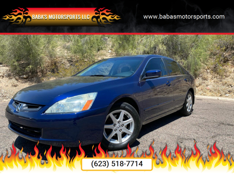 2003 Honda Accord for sale at Baba's Motorsports, LLC in Phoenix AZ