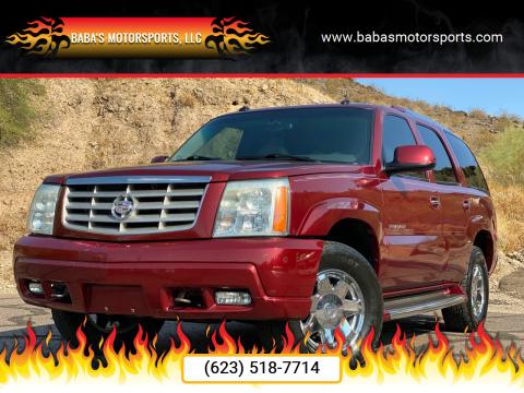 2003 Cadillac Escalade for sale at Baba's Motorsports, LLC in Phoenix AZ