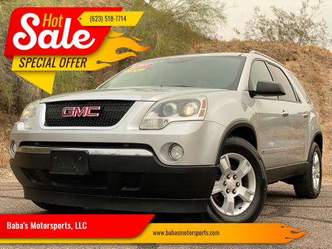 2009 GMC Acadia for sale at Baba's Motorsports, LLC in Phoenix AZ