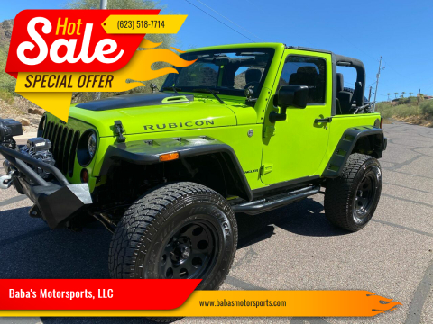 2012 Jeep Wrangler for sale at Baba's Motorsports, LLC in Phoenix AZ