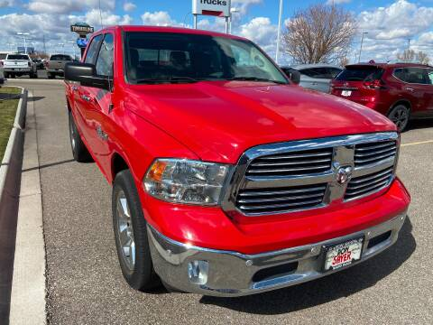 2016 RAM Ram Pickup 1500 Big Horn for sale at RON SAYER CHRYSLER DODGE JEEP RAM in Idaho Falls ID