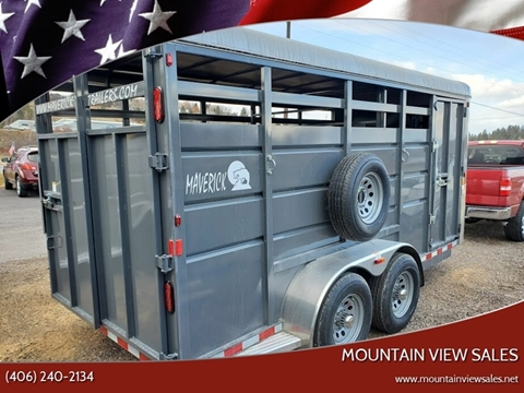 2021 Maverick Stock Trailer 17 Ft for sale at Mountain View Sales in Lolo MT