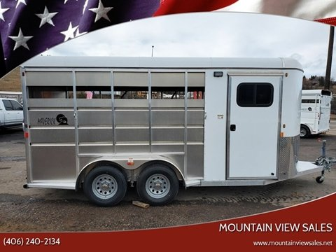 2020 Maverick 3 Horse Trailer Aluminum for sale at Mountain View Sales in Lolo MT