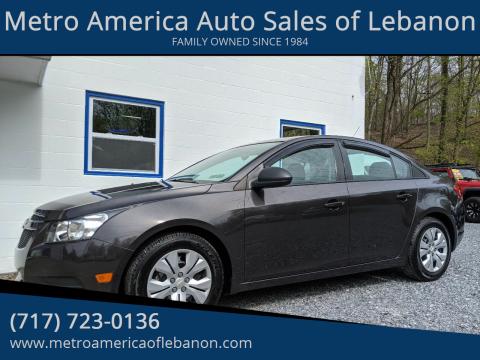2014 Chevrolet Cruze LS Auto for sale at Metro America Auto Sales of Lebanon in Lebanon PA