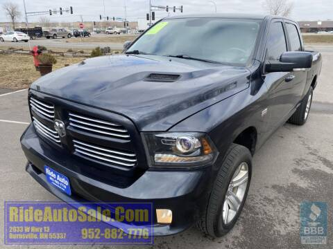 2014 RAM Ram Pickup 1500 Sport for sale at ride auto sales in Burnsville MN