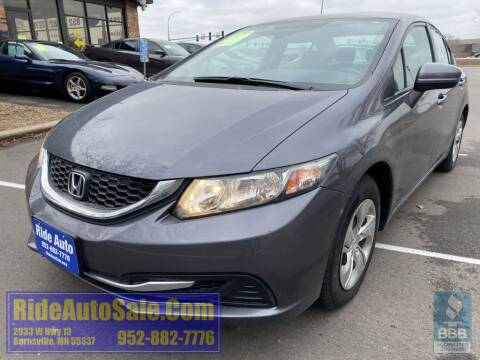 2015 Honda Civic LX for sale at ride auto sales in Burnsville MN