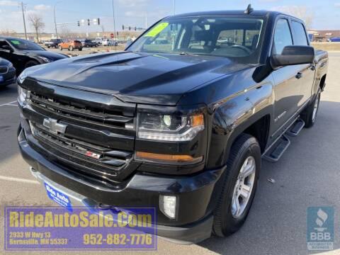 2017 Chevrolet Silverado 1500 for sale at ride auto sales in Burnsville MN