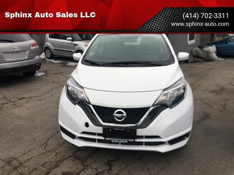 2018 Nissan Versa Note S for sale at Sphinx Auto Sales LLC in Milwaukee WI