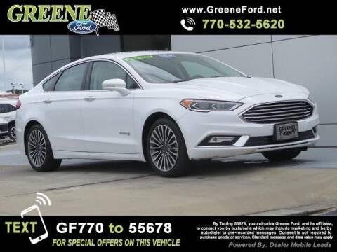 2017 Ford Fusion Hybrid for sale at NMI in Atlanta GA