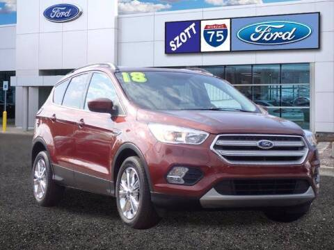 2018 Ford Escape for sale at Szott Ford in Holly MI
