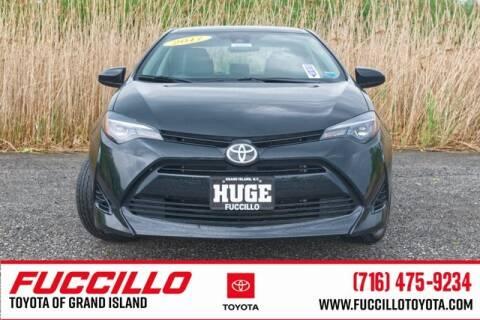 2017 Toyota Corolla LE for sale at Fuccillo Toyota of Grand Island in Grand Island NY