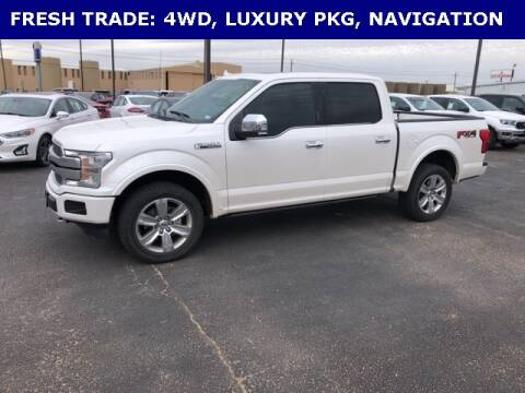 2018 Ford F-150 Platinum for sale at STANLEY FORD ANDREWS in Andrews TX