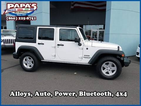 2015 Jeep Wrangler Unlimited for sale at Papas Chrysler Dodge Jeep Ram in New Britain CT