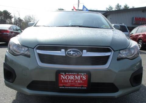 2014 Subaru Impreza for sale at Norm's Used Cars INC. in Wiscasset ME