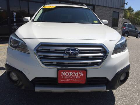 2016 Subaru Outback for sale at Norm's Used Cars INC. in Wiscasset ME