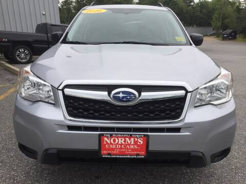 2016 Subaru Forester for sale at Norm's Used Cars INC. in Wiscasset ME