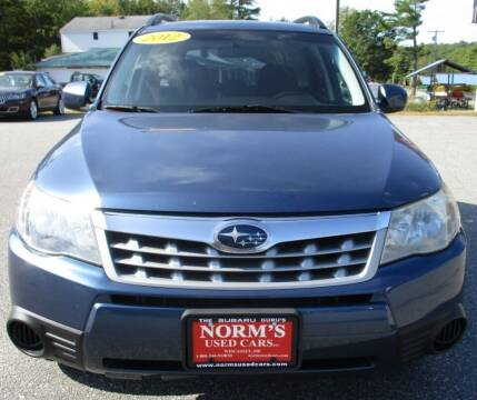 2012 Subaru Forester for sale at Norm's Used Cars INC. in Wiscasset ME