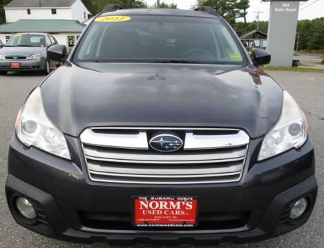 2013 Subaru Outback for sale at Norm's Used Cars INC. in Wiscasset ME