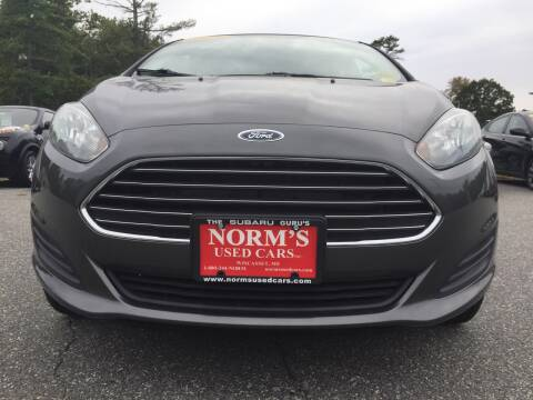 2015 Ford Fiesta for sale at Norm's Used Cars INC. - Trucks By Norm's in Wiscasset ME