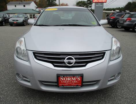 2012 Nissan Altima for sale at Norm's Used Cars INC. in Wiscasset ME