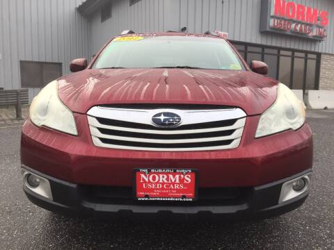 2012 Subaru Outback for sale at Norm's Used Cars INC. in Wiscasset ME