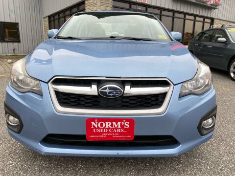 2012 Subaru Impreza for sale at Norm's Used Cars INC. in Wiscasset ME
