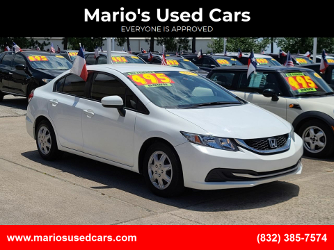 2015 Honda Civic for sale at Mario's Used Cars in Houston TX