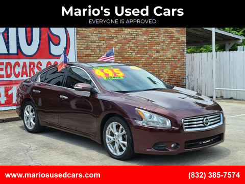 2014 Nissan Maxima for sale at Mario's Used Cars in Houston TX
