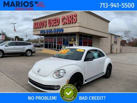 2012 Volkswagen Beetle for sale at Mario's Used Cars in Houston TX