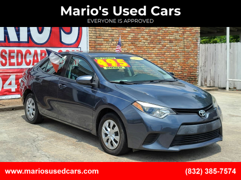 2015 Toyota Corolla for sale at Mario's Used Cars - South Houston Location in South Houston TX