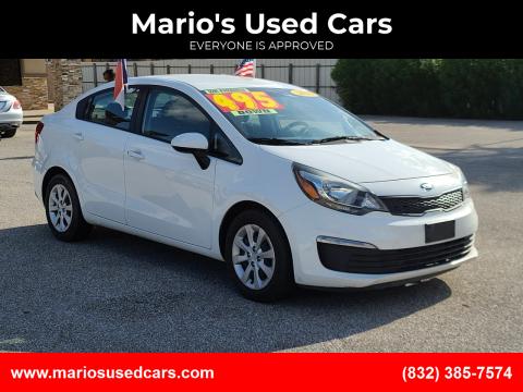 2016 Kia Rio for sale at Mario's Used Cars - Pasadena Location in Pasadena TX