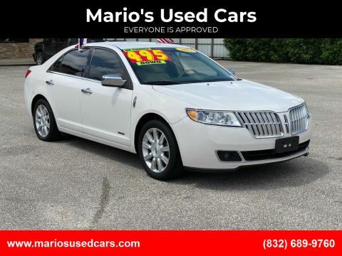 2012 Lincoln MKZ Hybrid for sale at Mario's Used Cars - Pasadena Location in Pasadena TX