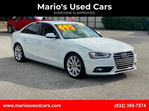 2013 Audi A4 for sale at Mario's Used Cars - Pasadena Location in Pasadena TX